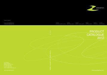 PRODUCT CATALOGUE 2012 - Zenaro LED Lights