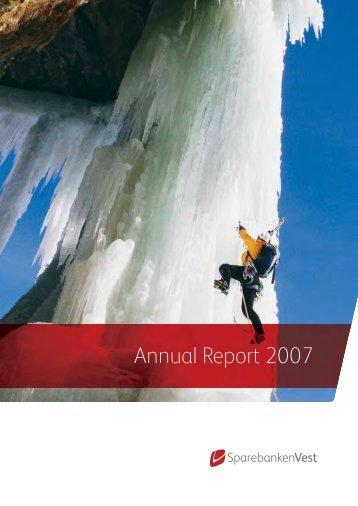 Annual Report 2007 - Sparebanken Vest