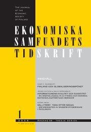 Nummer 1/2006 - Ekonomiska Samfundet i Finland