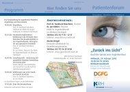 Programmflyer Patientenforum - Klinikum Region Hannover GmbH
