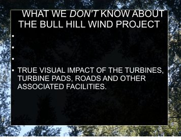 WHAT WE DON'T KNOW ABOUT THE BULL HILL ... - Maine.gov