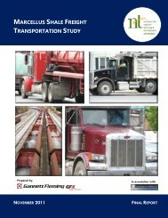 marcellus shale freight transportation study - Northern Tier Regional ...