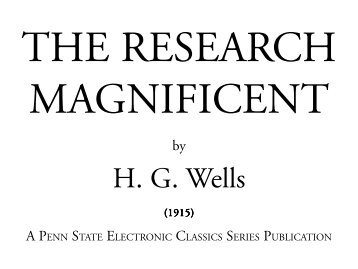 The Research Magnificent - Pennsylvania State University