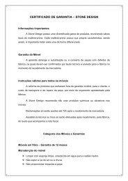 CERTIFICADO DE GARANTIA – STONE DESIGN