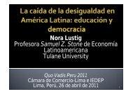 Nora Lustig Profesora Samuel Z. Stone de Economía ...