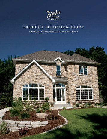 Product selection guide - Boulder Creek Stone