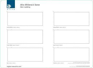 Altro Whiterock Stone Brochure - Commercial Coverings Ltd