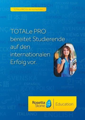 TOTALe PRO für die Hochschulen - Rosetta Stone