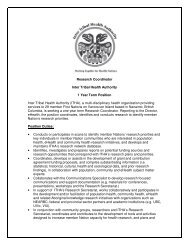 Research Coordinator Inter Tribal Health Authority 1 Year ... - CAHR