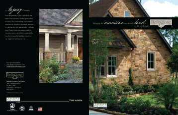 BellaStone Faux Stone Product Guide PDF - Ryan Windows & Siding