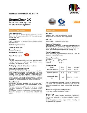 StoneClear 2K - Caparol paints
