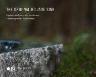 THE ORIGINAL BC JADE SINK - BC Jade Designs