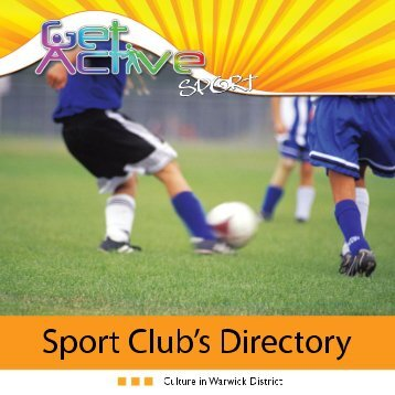 Club directory guide - Warwick District Council
