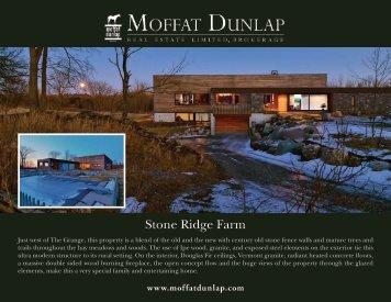 Stone Ridge Farm Brochure - Moffat Dunlap Real Estate Ltd.