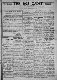 The Cadet. VMI Newspaper. June 13, 1929 - New Page 1 - Virginia ...