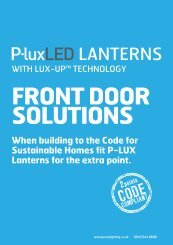When building to the Code for Sustainable Homes fit P-LUX ...