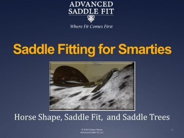 PowerPoint Presentation - Saddle Fitting for Smarties - Advanced ...