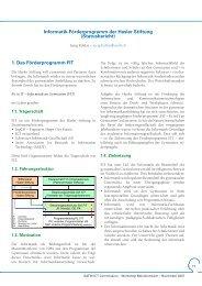 1. Das Förderprogramm FIT Informatik ... - Forum ICT 21