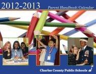 Parent Handbook/Calendar - Charles County Public Schools