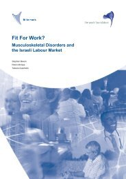 FfW Israel Report (English language version) - Fit for Work Europe