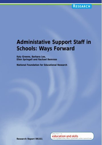Administrative Support Staff in Schools: Ways Forward - Digital ...
