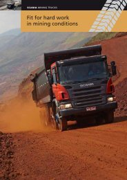 """Scania mining trucks. Fit for hard work in mining conditions"""