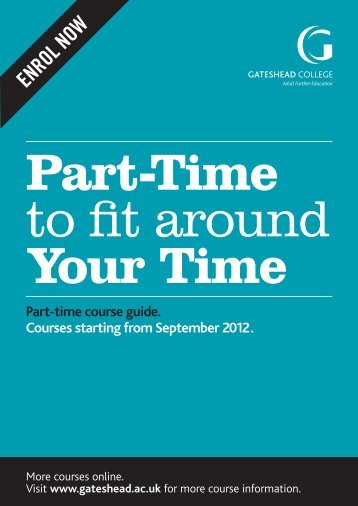 part time course - Gateshead College