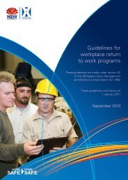 Guidelines for workplace return to work programs - WorkCover NSW
