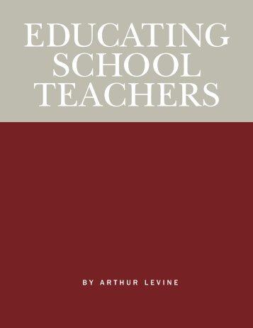 Educating School Teachers - Education Schools Project