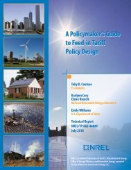 A Policymaker's Guide to Feed-in Tariff Policy Design - NREL