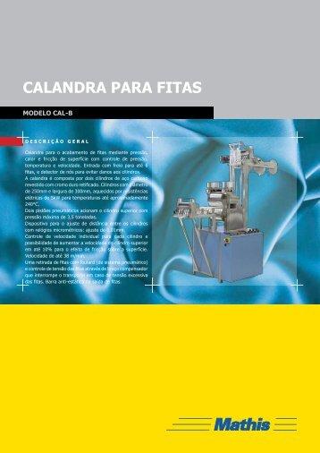calandra Para fitaS - MATHIS Aparelhos de Laboratório Mathis Ltda