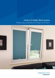 Perfect Fit Roller Blind System Measuring, assembly & fitting ...