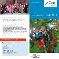 LEG Sommerschule 2013 - Landesentwicklungsgesellschaft ...