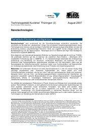 Nanotechnologien - Landesentwicklungsgesellschaft Thüringen mbH