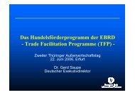 Trade Facilitation Programme (TFP)