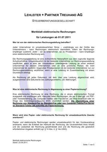 Elektronische Rechnungen Handwerkskammer Chemnitz