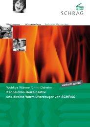 Öl-Heizeinsätze von SCHRAG für Kachelöfen - FEURON AG