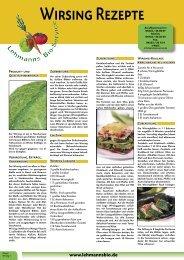 [PDF] Wirsing Rezepte - bei Lehmanns Bio Service