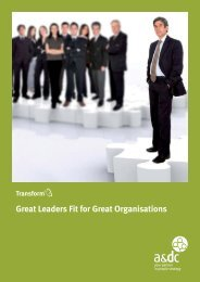 Great Leaders Fit Great Organisations Like a - A&DC - UK.com