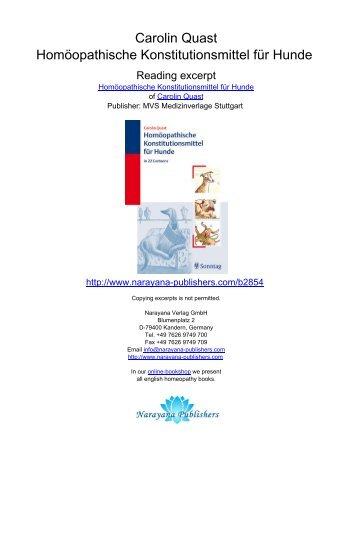 Carolin Quast Homöopathische Konstitutionsmittel für Hunde