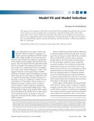 Model Fit and Model Selection - St. Louis Fed - Federal Reserve ...