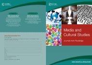 Media and Cultural Studies JRI 3_Media and ... - Taylor & Francis