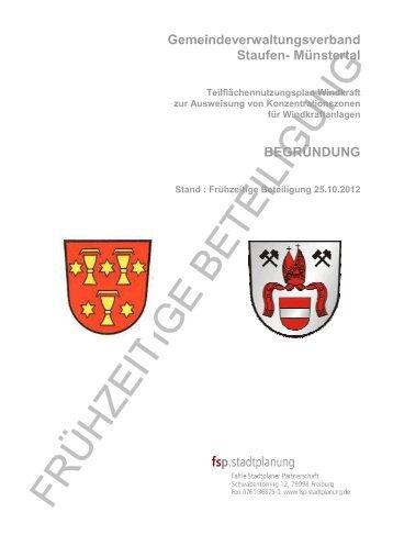 Gemeindeverwaltungsverband Staufen- Münstertal - in Staufen im ...