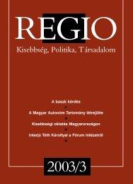 Regio - 14. évf. (2003.) 3. sz. - EPA