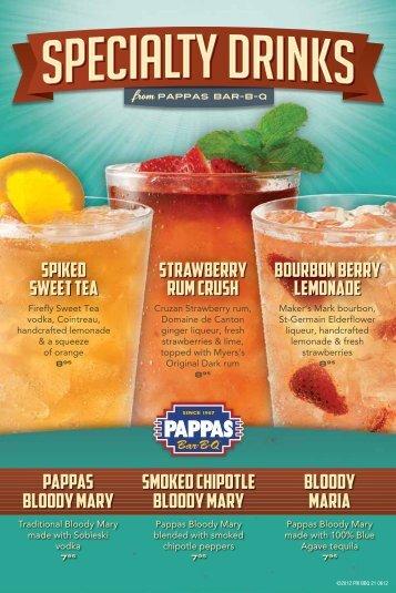 BourBon Berry Lemonade SPiked Sweet tea ... - Pappaspizza.net