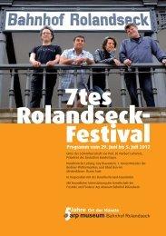 7tes Rolandseck- Festival - Arp Museum Bahnhof Rolandseck
