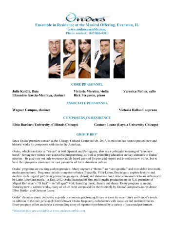 Concert Program (Pdf) - Brightmusic Chamber Ensemble