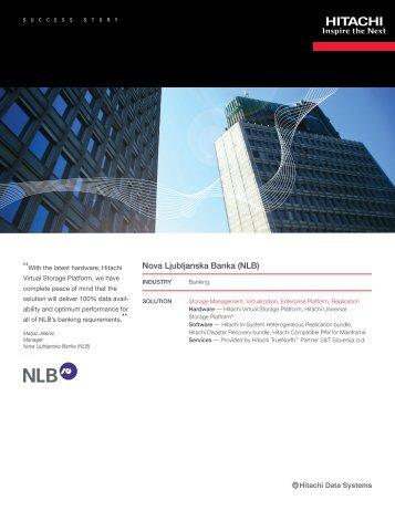 Hitachi Success Story with Nova Ljubljanska Banka (NLB)