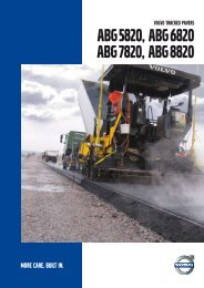Volvo ABG6820 tracked asphalt paver brochure – English