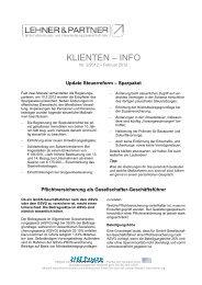 KLIENTEN – INFO - Lehner